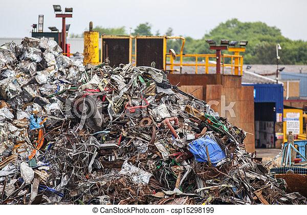 Pile of Scrap Metal in Junk