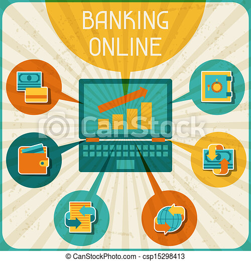 Online Banking Clipart Banking Online Infographic
