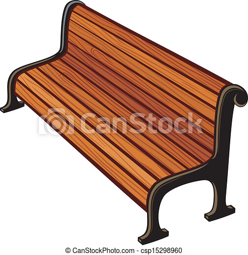 clip art vecteur de parc  banc csp15298960 recherchez Weiss Park Newark DE sitting on a park bench clipart