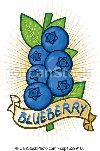 blueberries label  - csp15299188