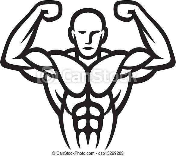 Vector Clipart of Bodybuilder csp15299203 - Search Clip