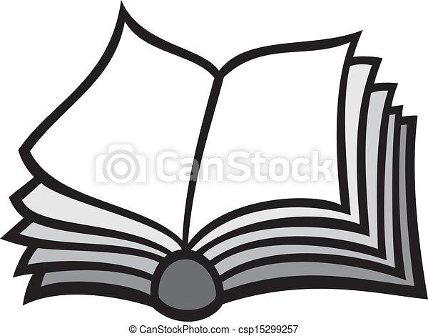 Clipart Vector of open book csp15299257 - Search Clip Art ...