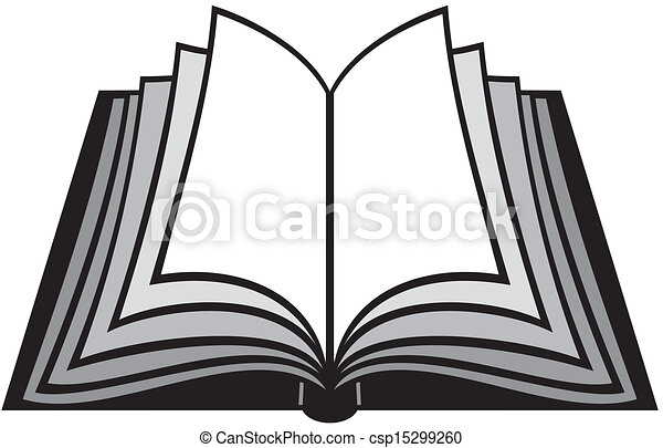 Books Line Drawing Vector Open Book