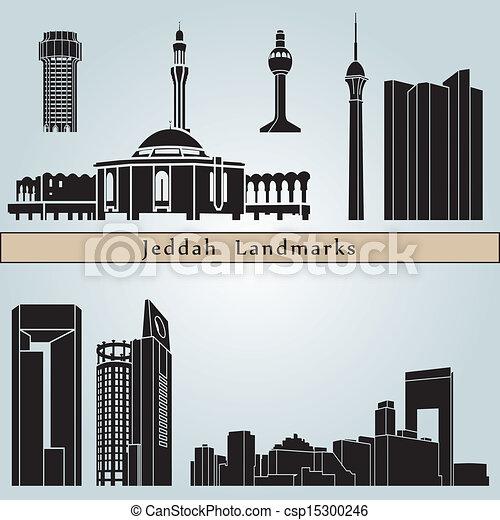 Jeddah landmarks and monuments - csp15300246