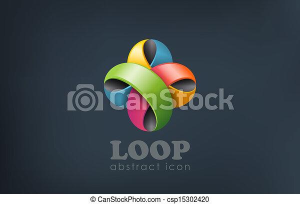 vektor illustration von logo geschenkband blume abstrakt schleife form spa. Black Bedroom Furniture Sets. Home Design Ideas