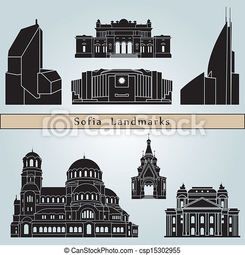 Sofia landmarks and monuments - csp15302955