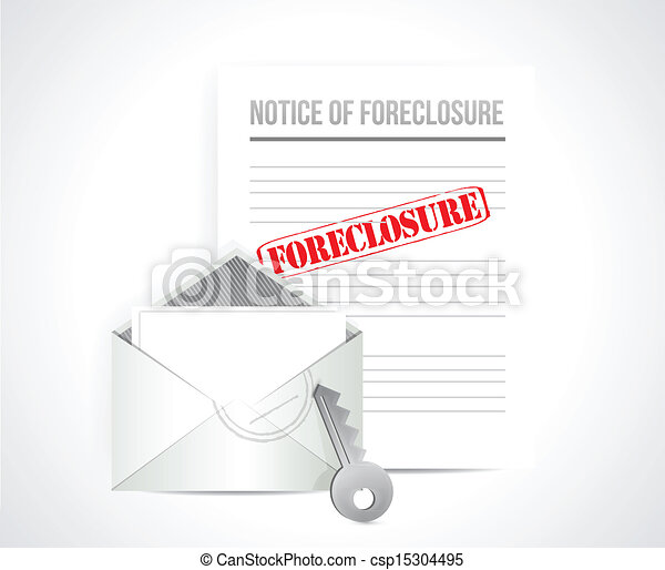foreclosure final notice concept. illustration - csp15304495