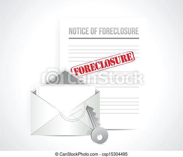 foreclosure final notice concept. illustration - csp15304495
