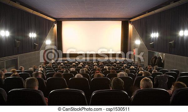 film, gens, regarder - csp1530511