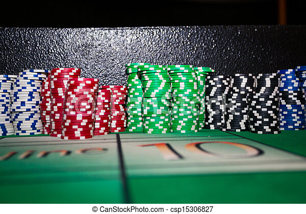 Gambling Poker Chips - csp15306827