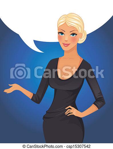 EPS vector de Oratoria, empresa negocio, mujer - vector ...