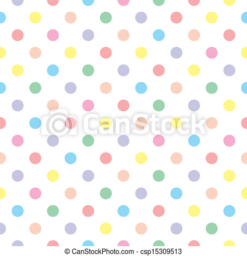 Seamless vector sweet dots pattern - csp15309513