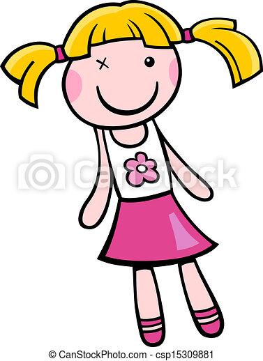 doll clip art cartoon illustration - csp15309881