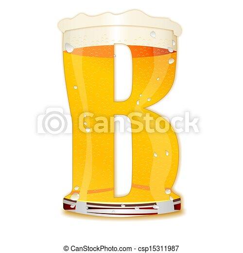 BEER ALPHABET letter B - B Beer
