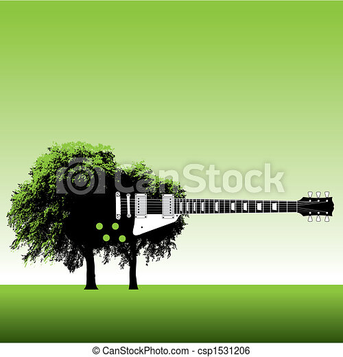 Guitar Tree Drawing Guitar Tree Background