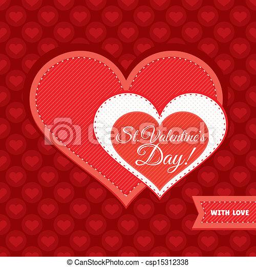 Valentine's day card - csp15312338