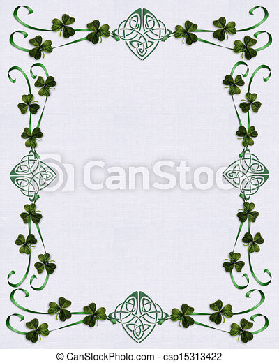 Irish border Celtic Unity knot Image and illustration composition for ...