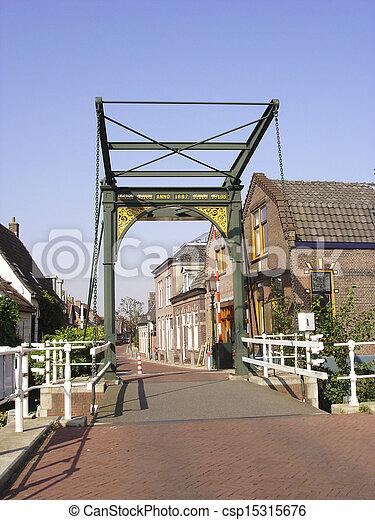 Historic cast iron drawbridge anno 1887 - csp15315676
