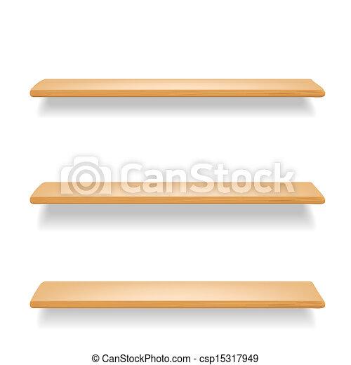 Vettore eps di legno mensole bianco fondocsp15317949 for Mensole legno bianco