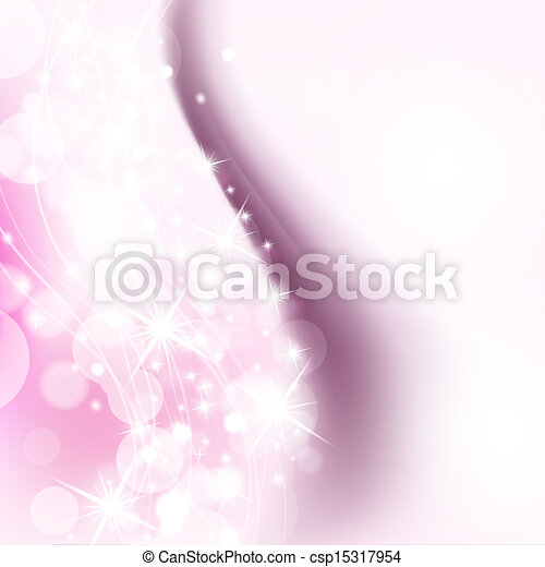 pink background with holiday shiny lights - csp15317954