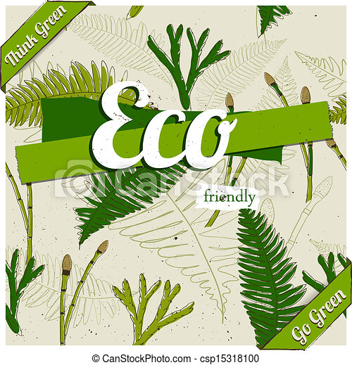 Vector Clipart of Eco friendly poster. Vector illustration EPS10 ...