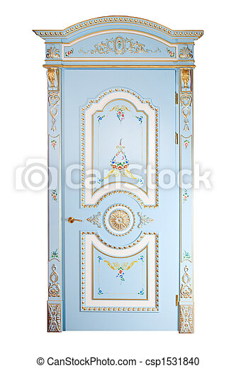 Handmade luxury door. - csp1531840