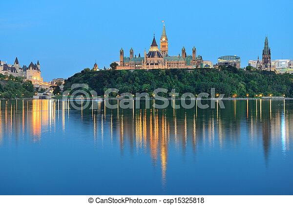 Ottawa at night - csp15325818