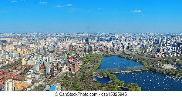Beijing aerial view - csp15325945