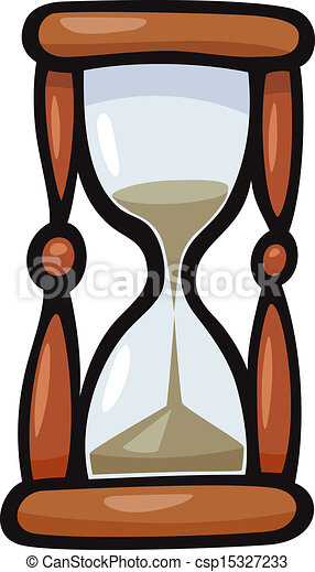Vector - hourglass clip art cartoon illustration - stock illustration ...