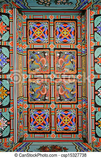 Stock Photos Of Pattern Of Korean Traditional Roof A