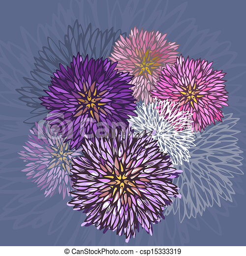 aster illustrations and clipart. , aster royalty free, Beautiful flower