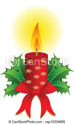 Vector of Christmas candle vector - Christmas candle holidays ...