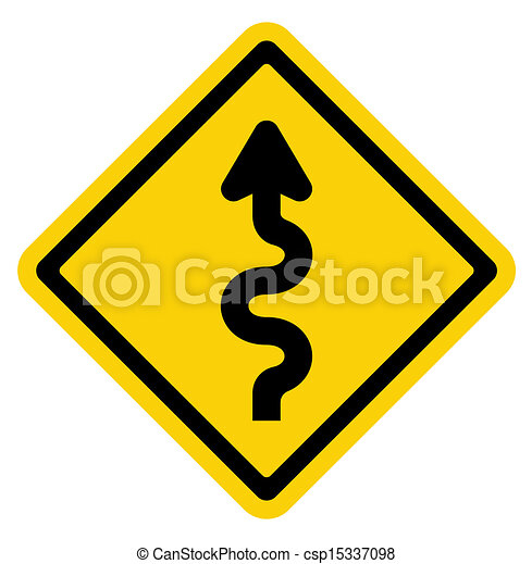 Winding Road Sign  - csp15337098