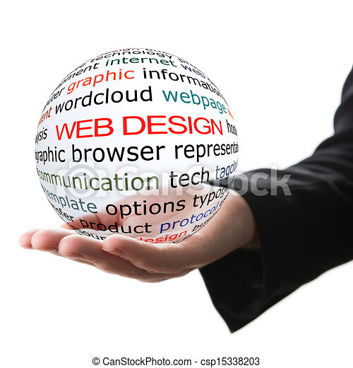 Concept of web design - csp15338203
