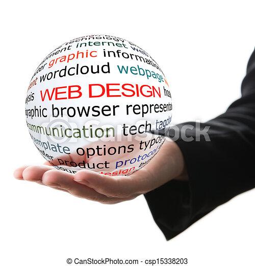 Concept of web design - csp15338203