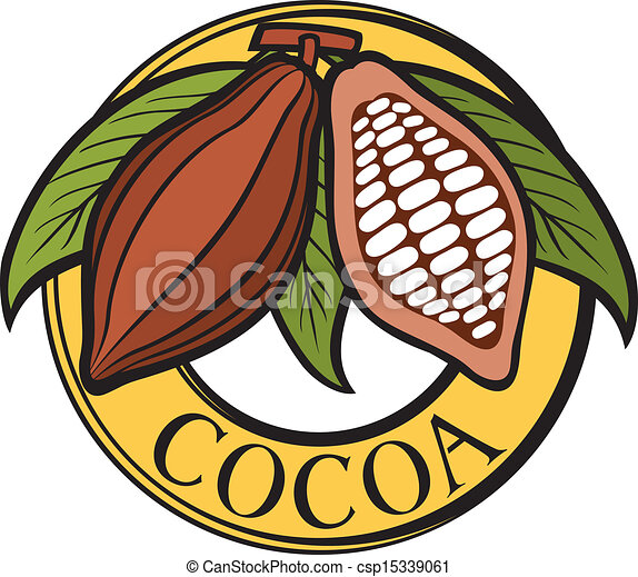 Cacao - cocoa beans label - csp15339061