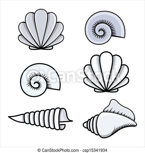 Seashells Cartoon Vector 15341934 on large beach home designs