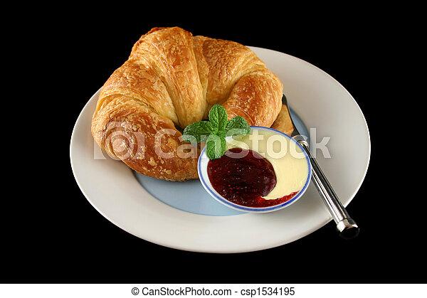 Croissant With Jam 1 - csp1534195