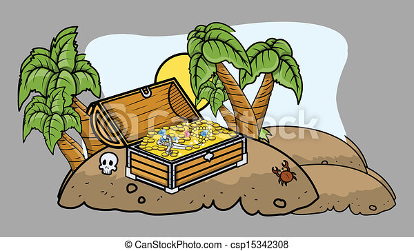 vector clipart of pirate treasure box on an island pirate ship clip art carnival pirate ship clip art for kids