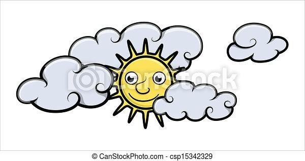 Cloud Cartoon Drawing Cartoon Sun And Clouds