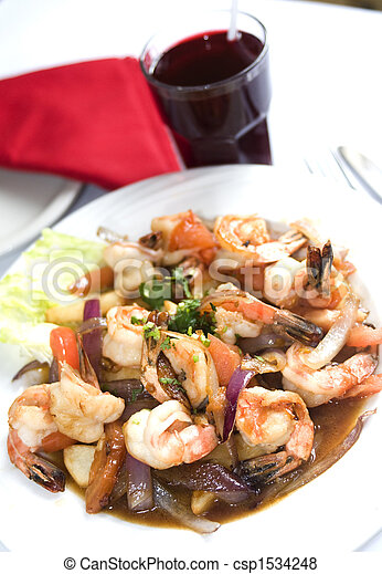 Pictures of camaron saltado camaron shrimp saltado for Art of peruvian cuisine