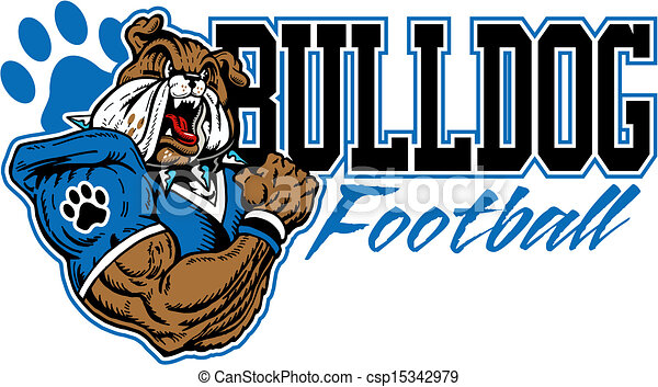 mean bulldog football design - csp15342979