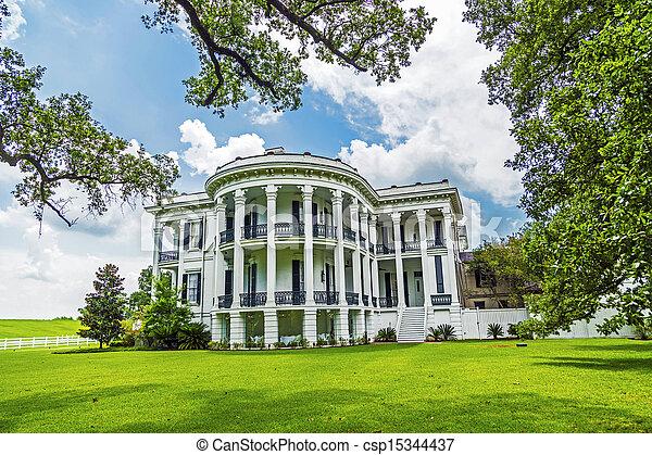 plantação, histórico,  Louisiana,  nottoway - csp15344437
