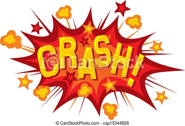Car Crashing Clip Art Through Sign