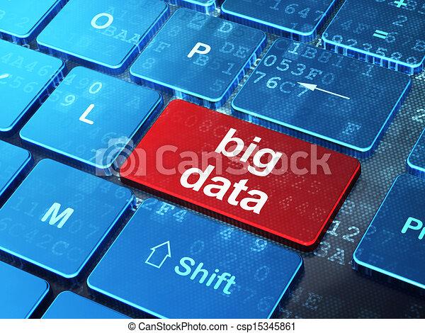 Information concept: Big Data on computer keyboard background - csp15345861