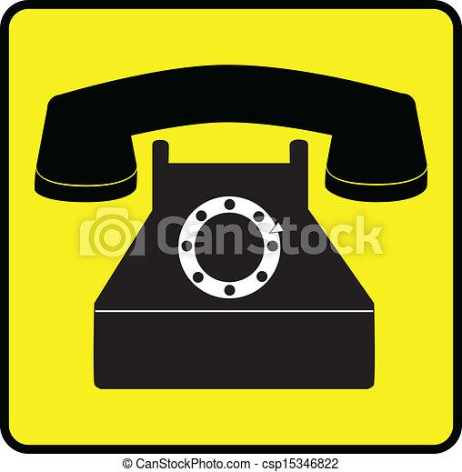 Simbolo Telefone Símbolo Simples Telefone