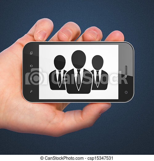 Law concept: Business People on smartphone - csp15347531