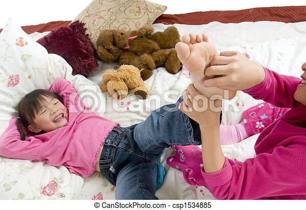 Tickling feet - csp1534885