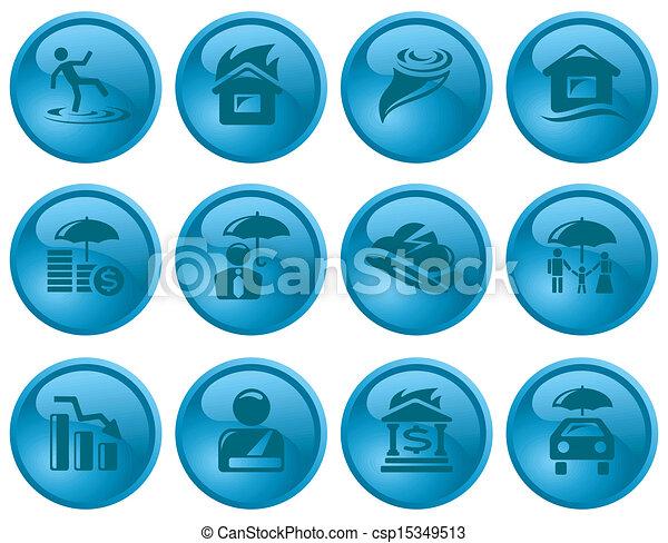 Insurance buttons - csp15349513