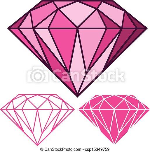Vecteur clipart de rose diamant csp15349759 recherchez - Diamant dessin ...